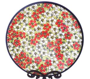 Polish pottery dinner plate