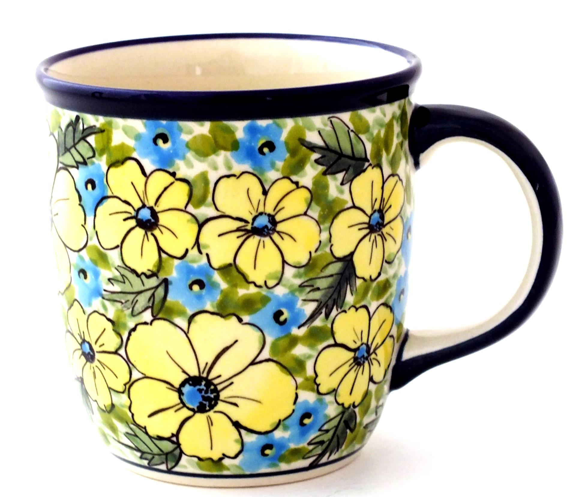 Color Palette Polish Pottery 14 Oz Stoneware Mug Unikat