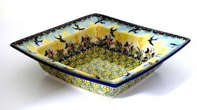 Polish Pottery square bowl