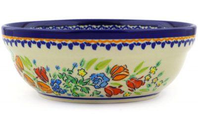 polish pottery cereal bowl