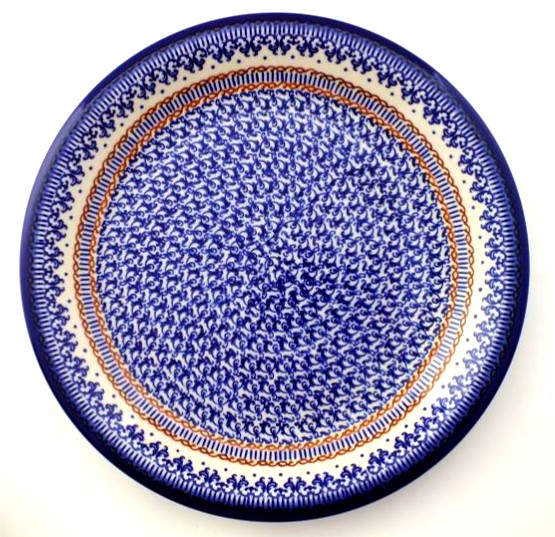 Color Palette Polish Pottery 6060 Plate Stoneware RoundClassic Extraordinary Polish Pottery Patterns