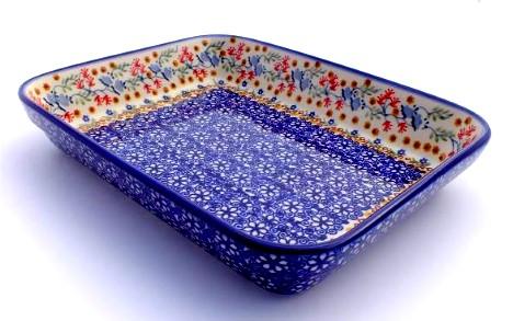 Color Palette Polish Pottery 10 Quot Rectangular Baker Unikat