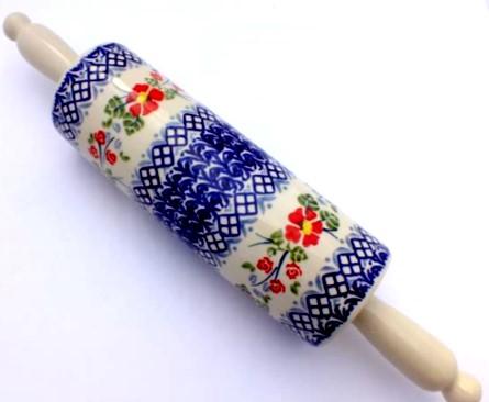 Color Palette Polish Pottery 15 Quot Rolling Pin Unikat