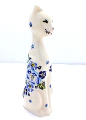 Polish Pottery Zaklady Cat Figurine