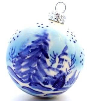 Polish Pottery Zaklady Christmas ball