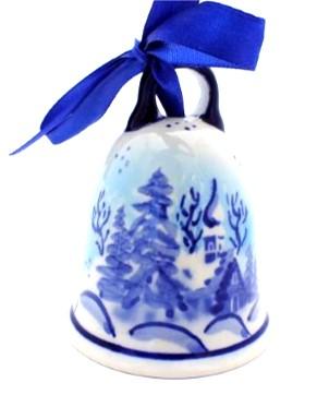 Polish Pottery Zaklady Ornament bell