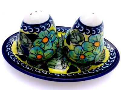 Polish Pottery Zaklady Salt & Pepper Tray