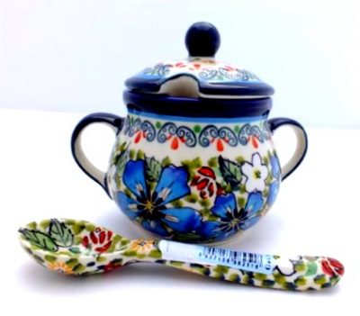 Polish Pottery Zaklady Sugar Bowl