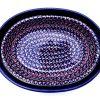 Polish Pottery Zaklady oval baker rim handles