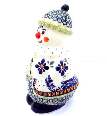 Polish Pottery Zaklady snowman
