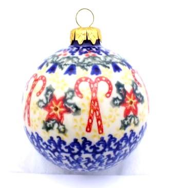 Polish Pottery Ball Large Vena