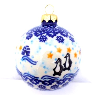 Polish Pottery Ball Large Vena - Color Palette Polish Pottery 3