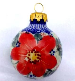 Polish Pottery Ball Small Vena