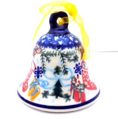 Polish Pottery Bell Large Vena