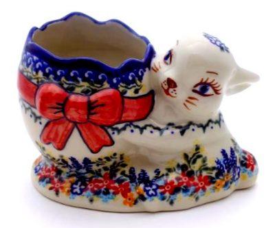 Polish Pottery Bunny with Easter Egg Jar
