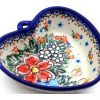 Polish Pottery Heart Bowl