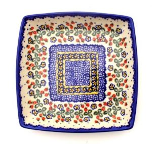 Polish Pottery Square Tray