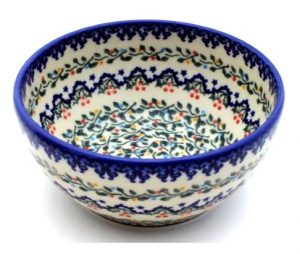 Polish Pottery Vena cereal bowl
