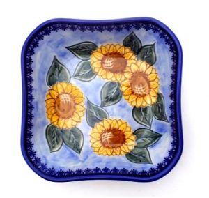 Polish Pottery square bowl